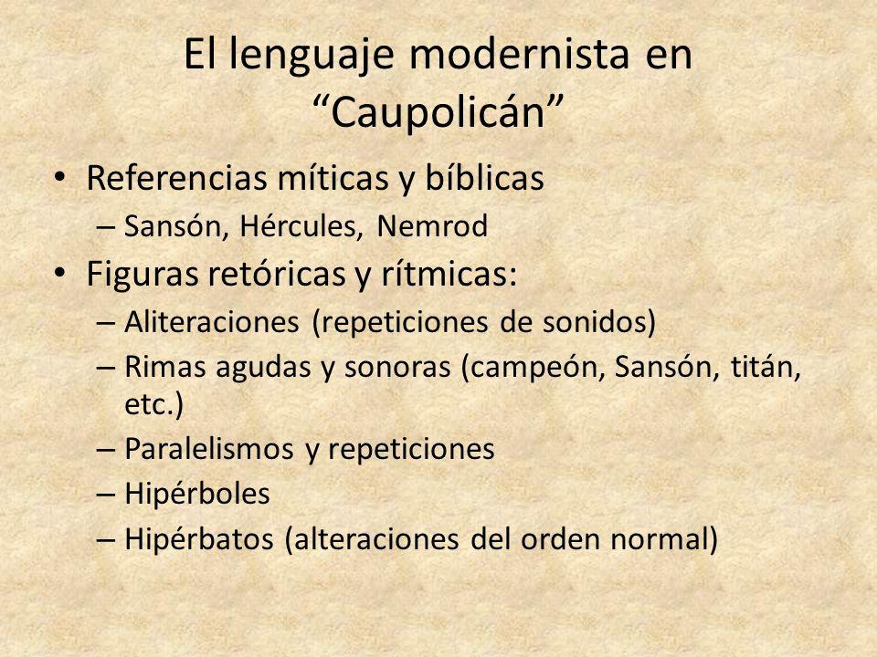 El lenguaje modernista en Caupolicán