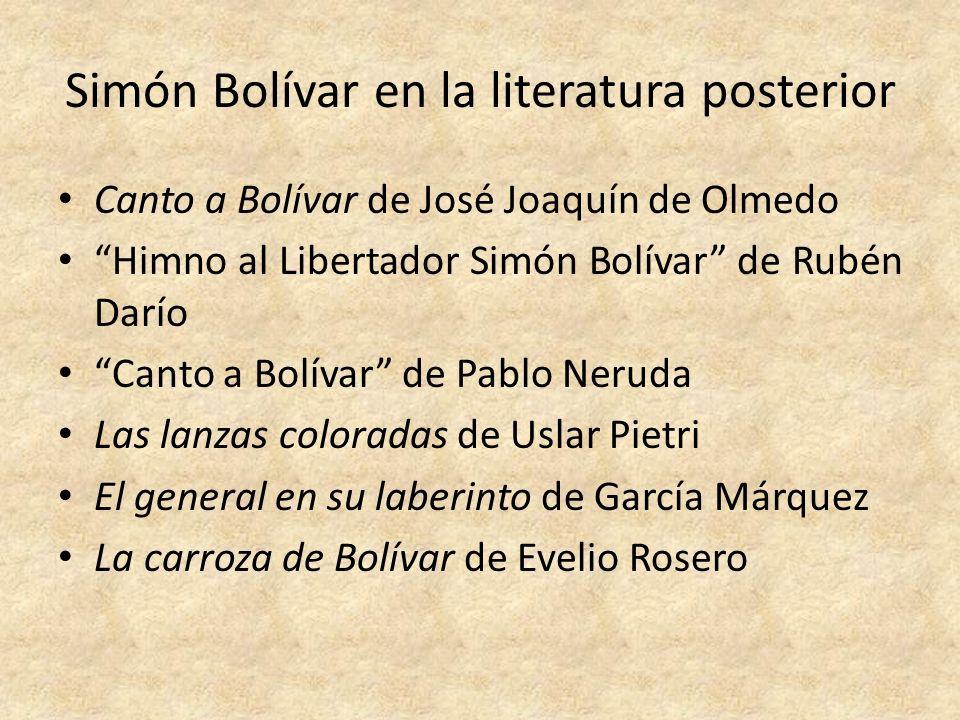 Simón Bolívar en la literatura posterior