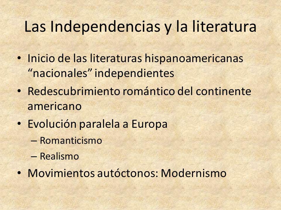 Las Independencias y la literatura