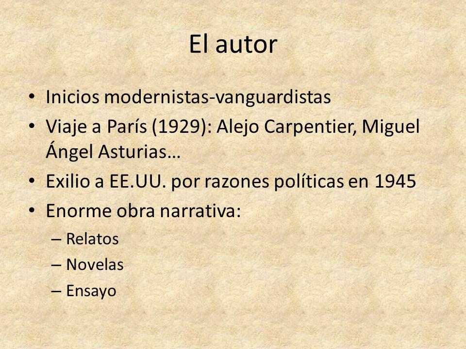 El autor Inicios modernistas-vanguardistas
