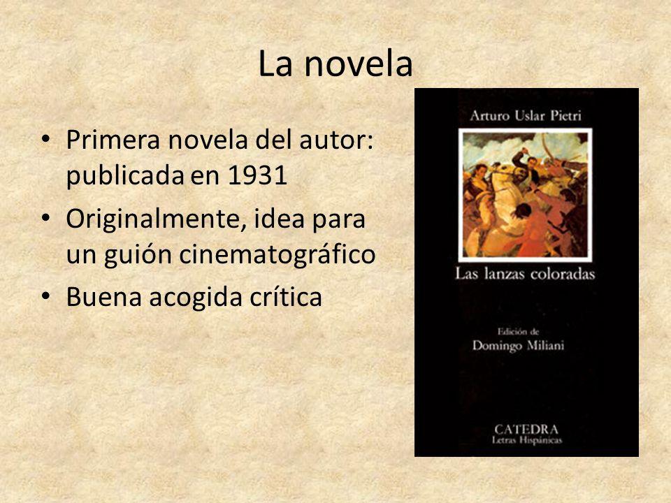 La novela Primera novela del autor: publicada en 1931