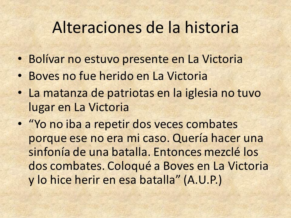 Alteraciones de la historia