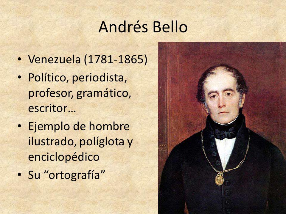 Andrés Bello Venezuela (1781-1865)