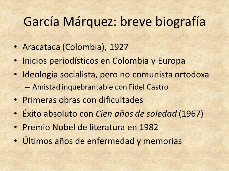 García Márquez: breve biografía