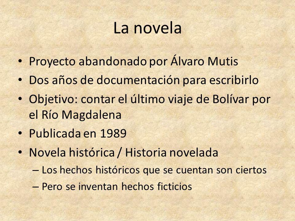 La novela Proyecto abandonado por Álvaro Mutis