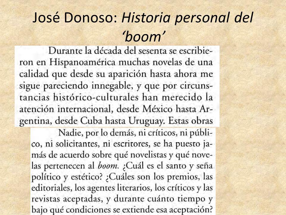José Donoso: Historia personal del 'boom'