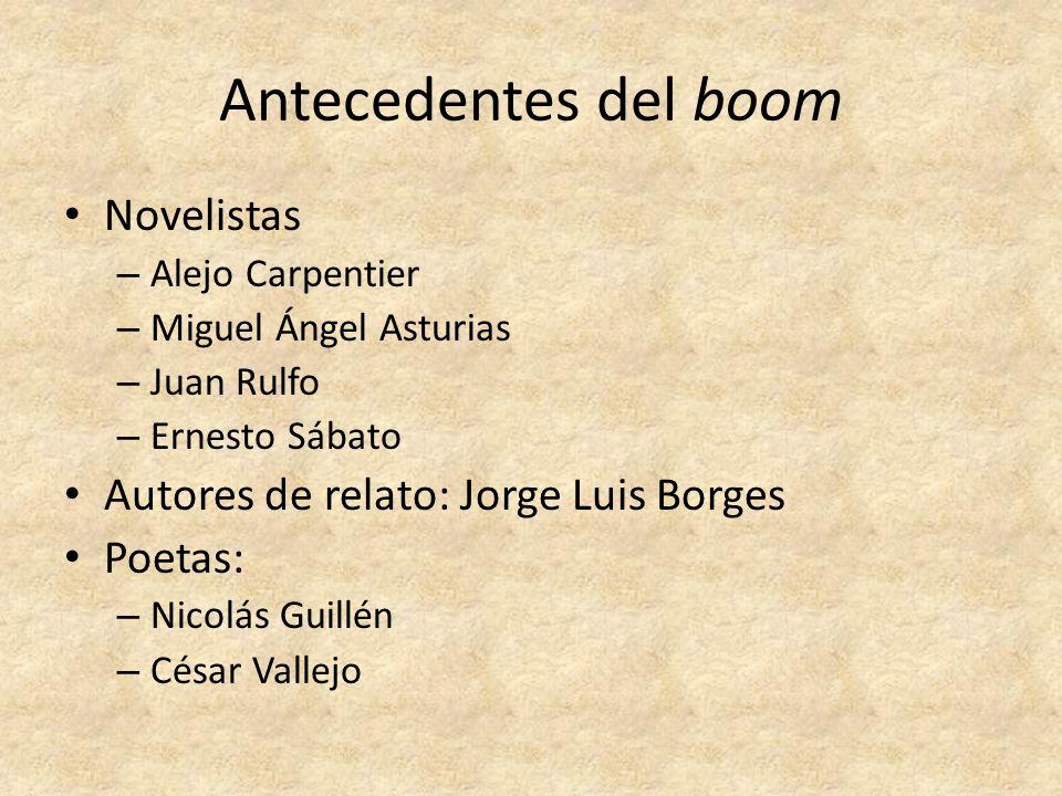 Antecedentes del boom Novelistas Autores de relato: Jorge Luis Borges