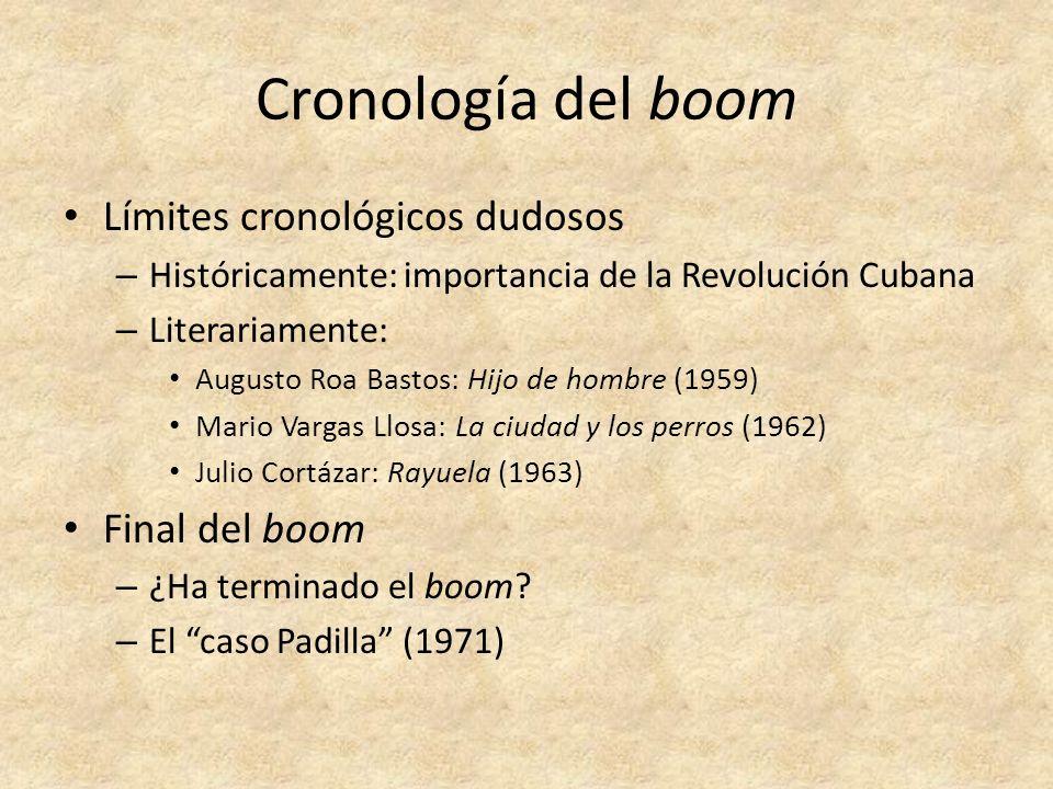 Cronología del boom Límites cronológicos dudosos Final del boom