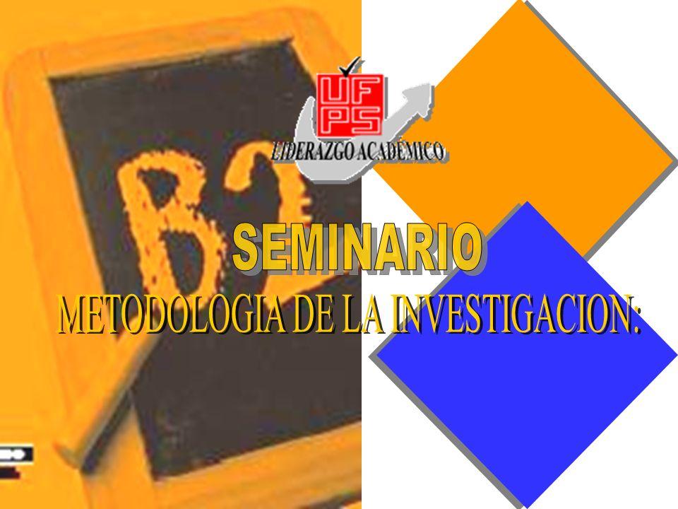 METODOLOGIA DE LA INVESTIGACION: