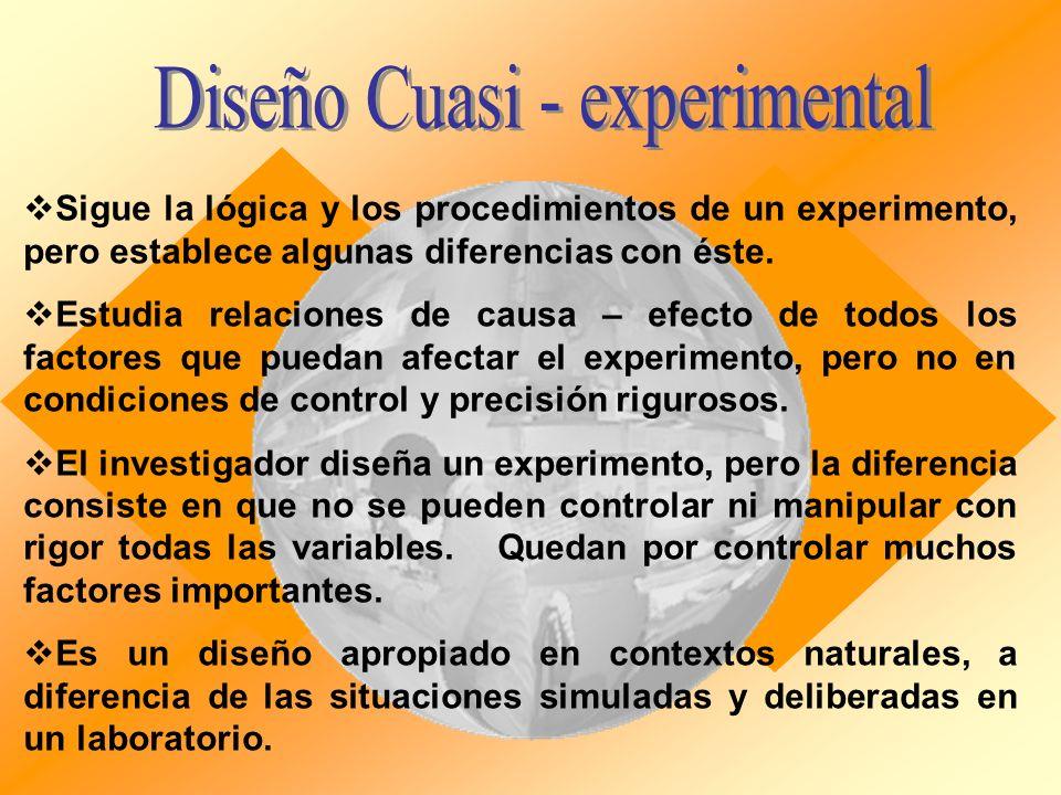 Diseño Cuasi - experimental