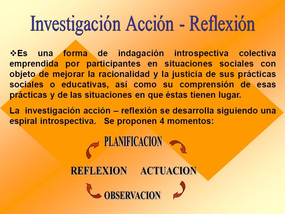 Investigación Acción - Reflexión