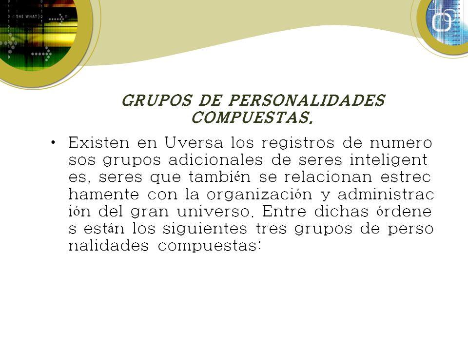 GRUPOS DE PERSONALIDADES COMPUESTAS.