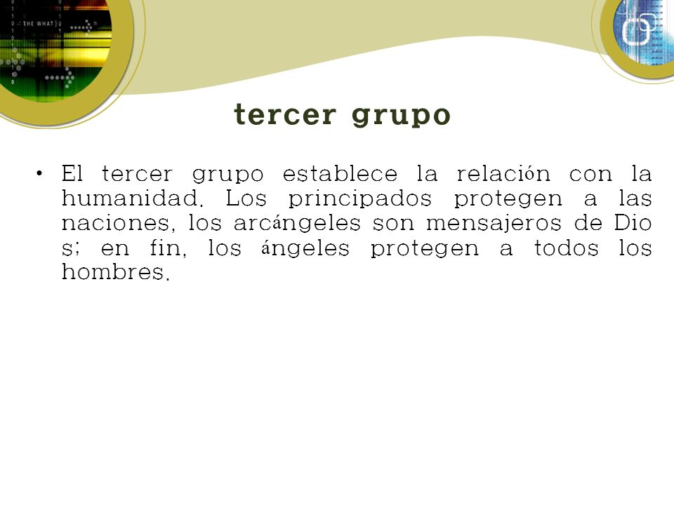 tercer grupo