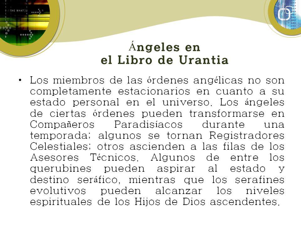 Ángeles en el Libro de Urantia