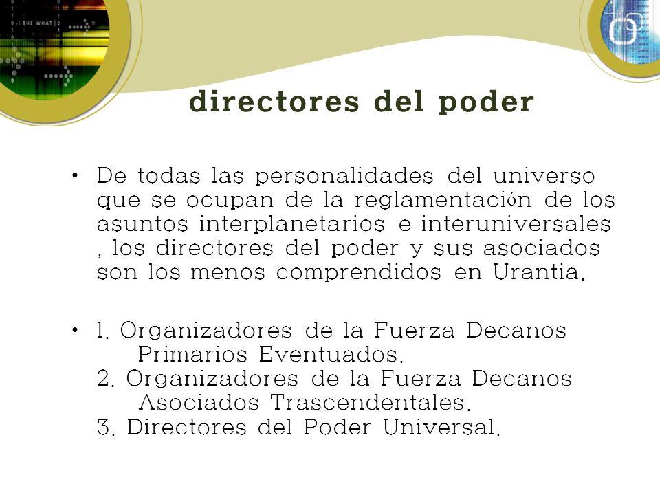 directores del poder