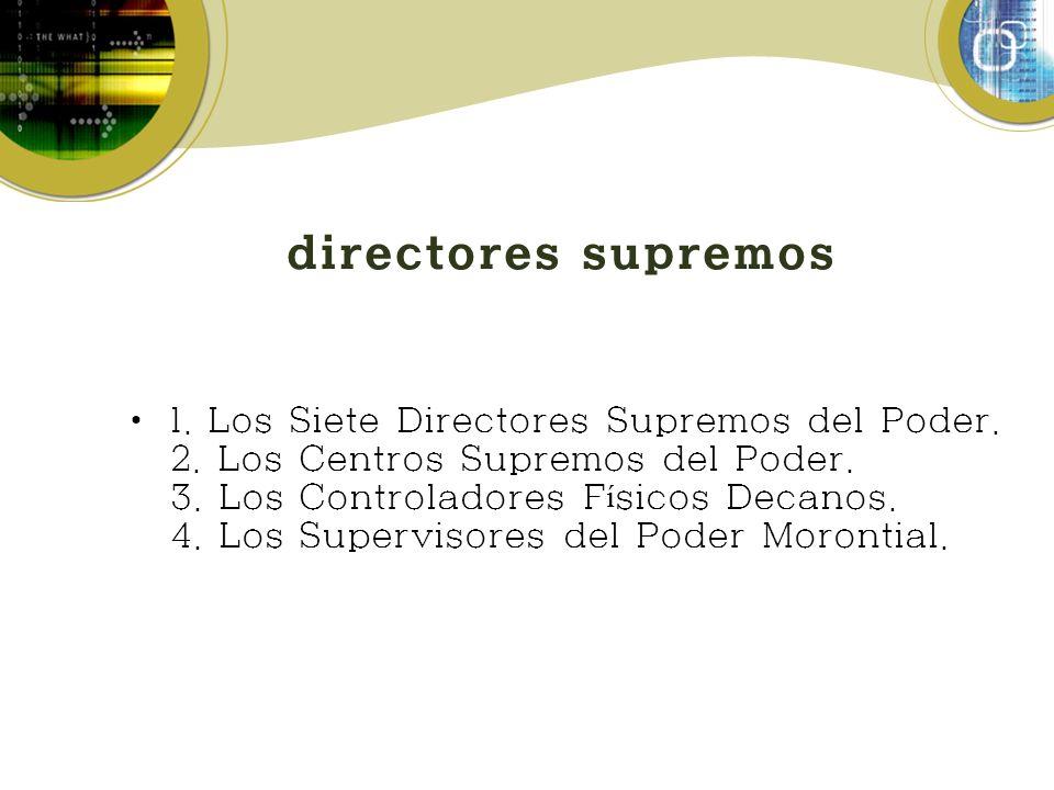 directores supremos