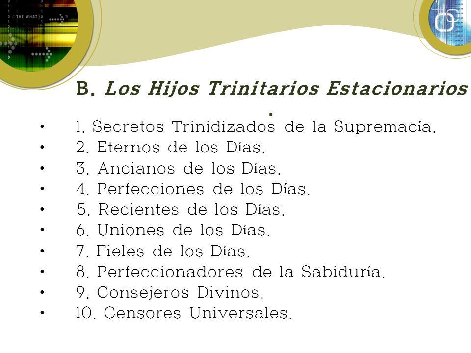 B. Los Hijos Trinitarios Estacionarios.