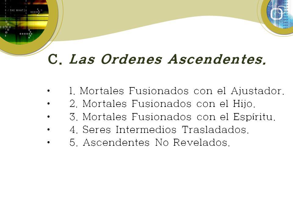 C. Las Ordenes Ascendentes.