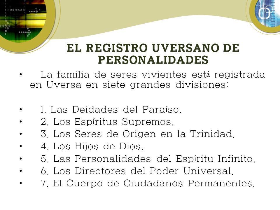 EL REGISTRO UVERSANO DE PERSONALIDADES