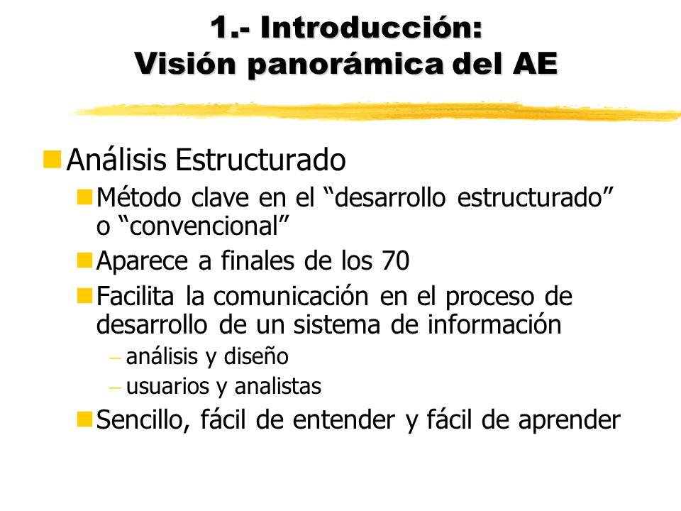 1.- Introducción: Visión panorámica del AE