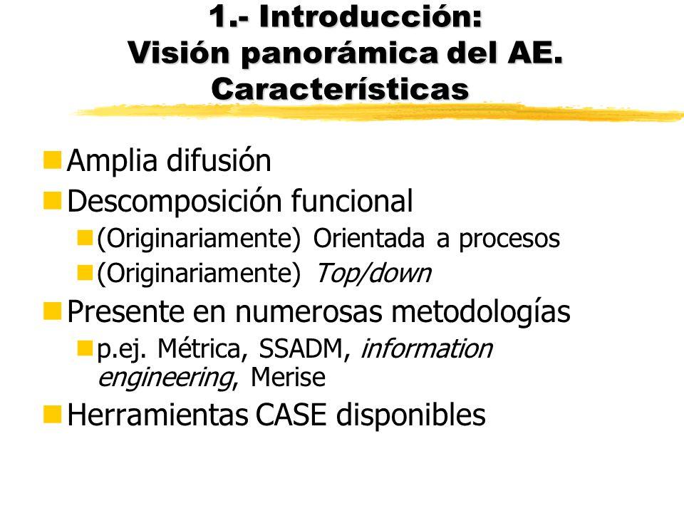 1.- Introducción: Visión panorámica del AE. Características