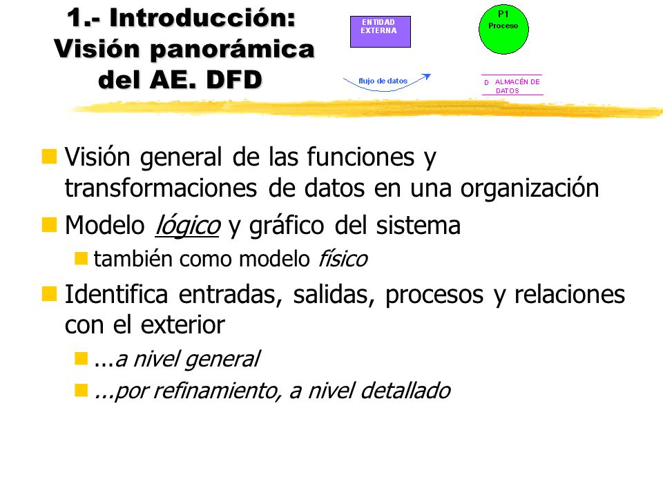 1.- Introducción: Visión panorámica del AE. DFD