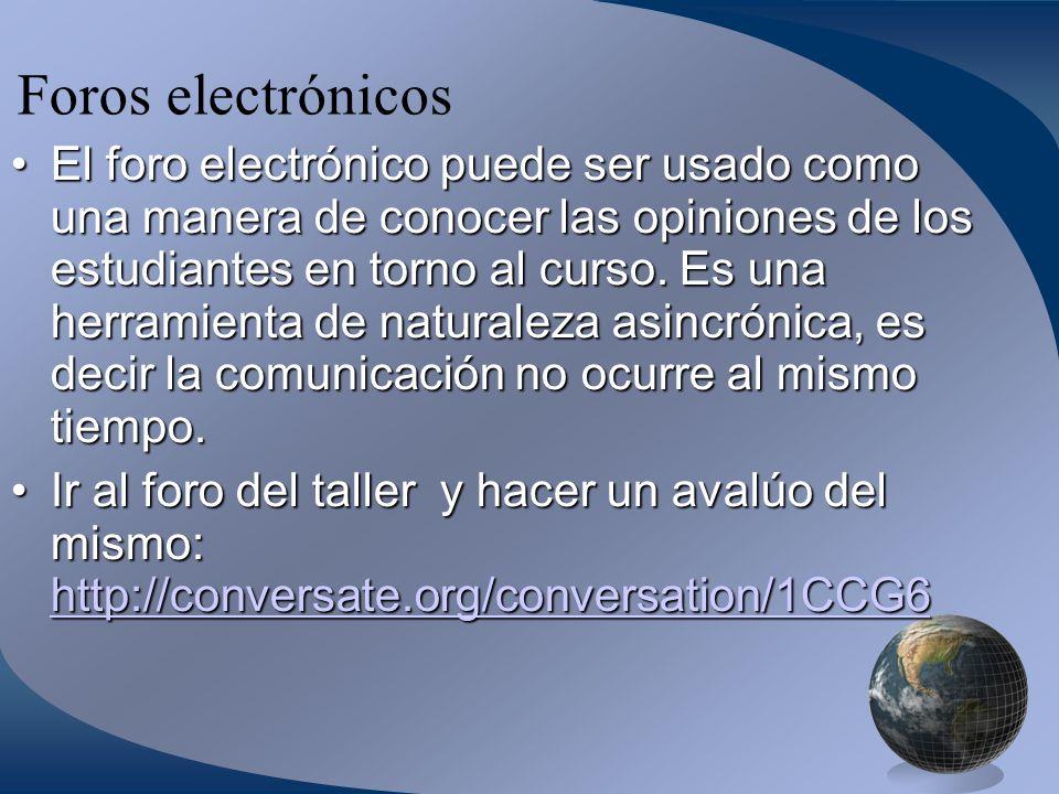 Foros electrónicos