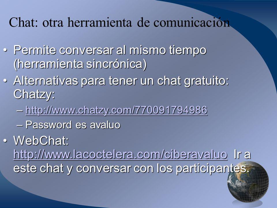 Chat: otra herramienta de comunicación