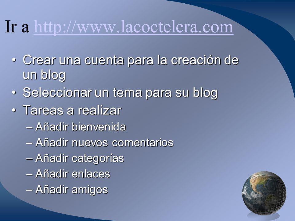 Ir a http://www.lacoctelera.com
