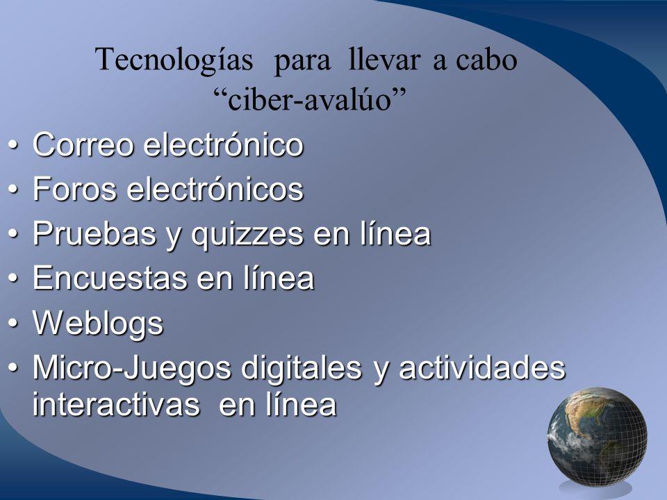 Tecnologías para llevar a cabo ciber-avalúo