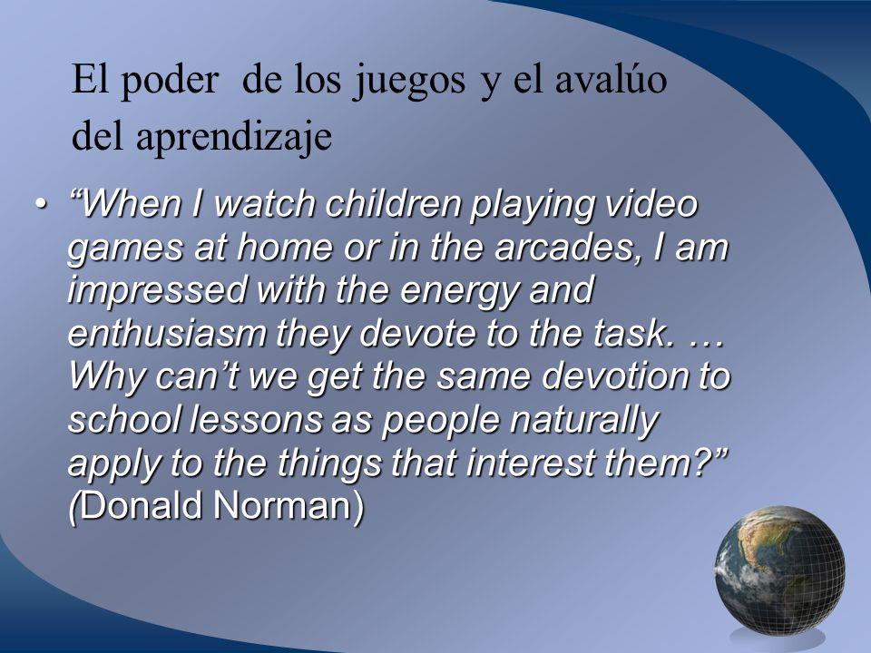 El poder de los juegos y el avalúo del aprendizaje