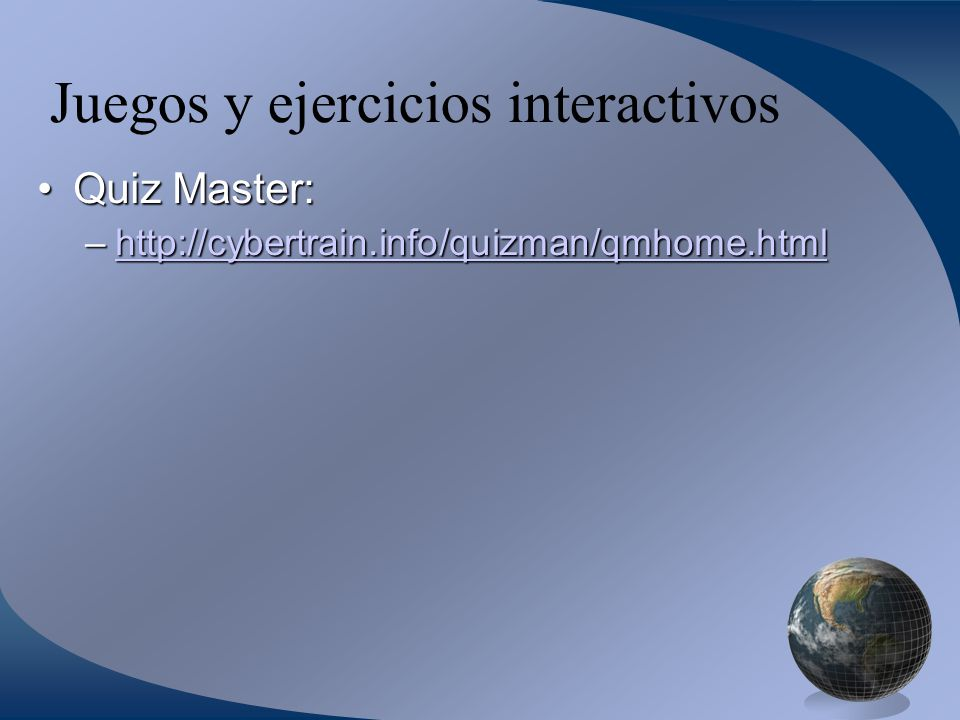Juegos y ejercicios interactivos