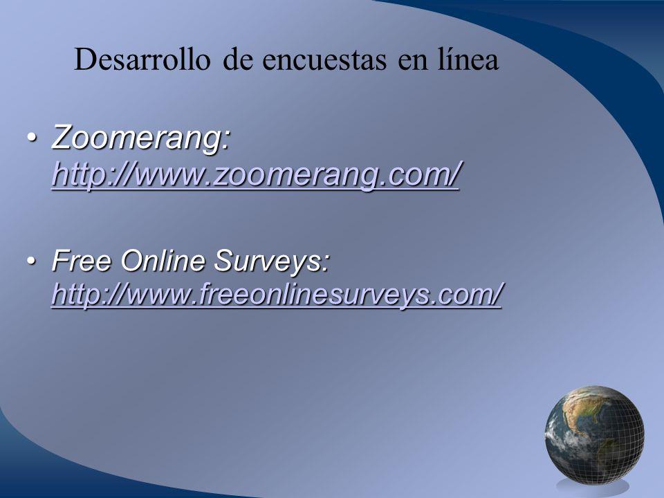 Desarrollo de encuestas en línea
