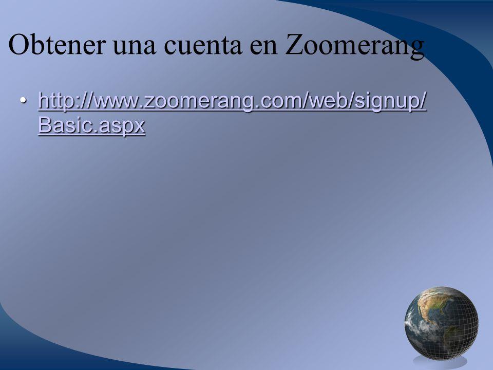 Obtener una cuenta en Zoomerang