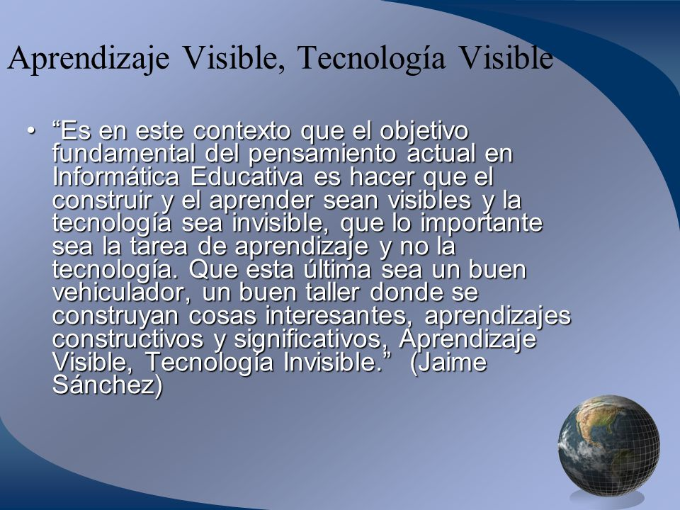 Aprendizaje Visible, Tecnología Visible
