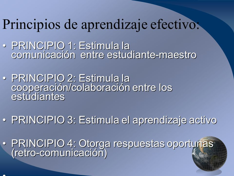 Principios de aprendizaje efectivo: