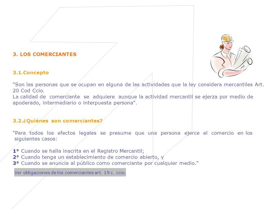 Ver obligaciones de los comerciantes art. 19 c. ccio.