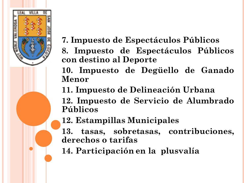 7. Impuesto de Espectáculos Públicos