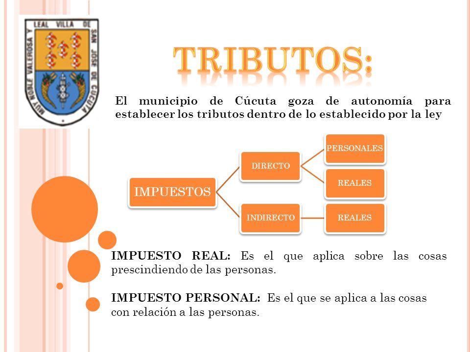 TRIBUTOS: El municipio de Cúcuta goza de autonomía para establecer los tributos dentro de lo establecido por la ley.