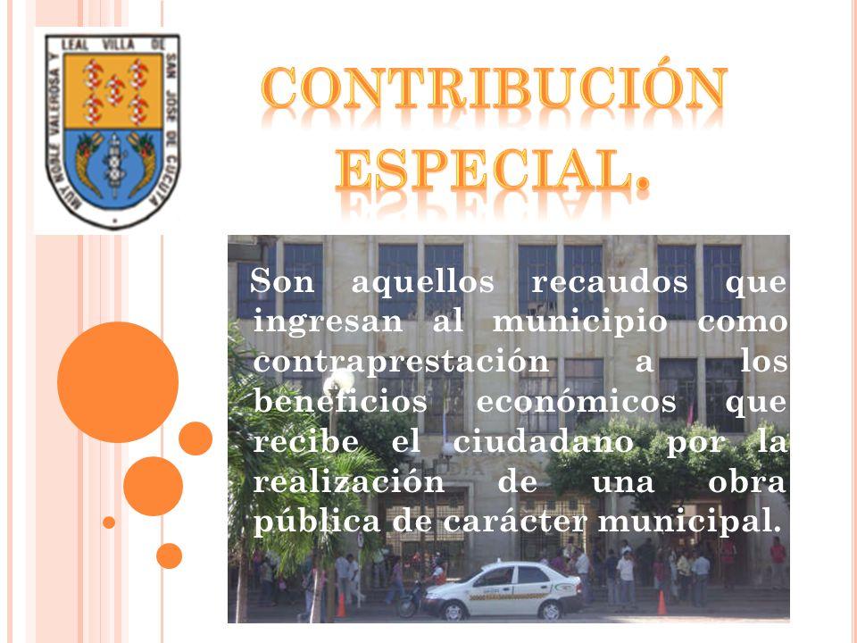 CONTRIBUCIÓN ESPECIAL.