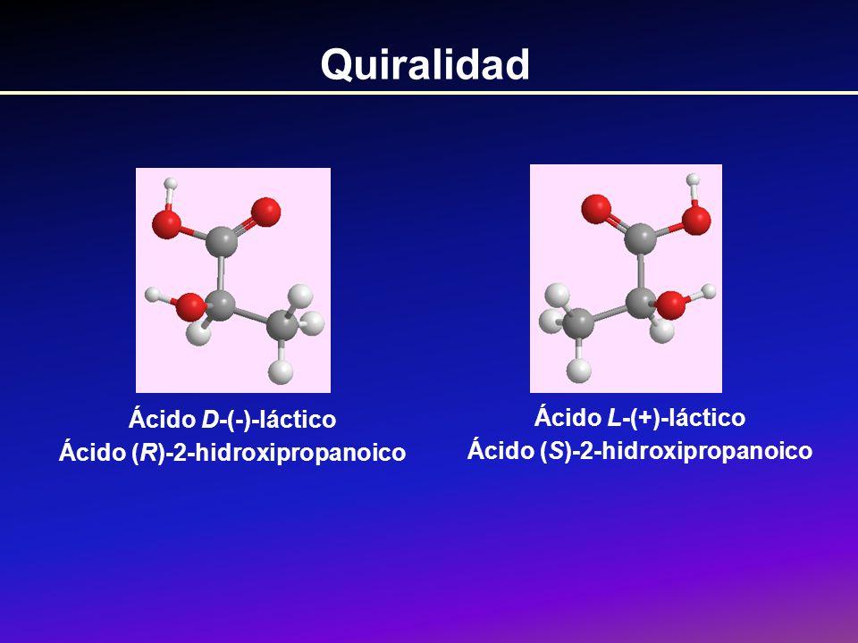 Ácido (R)-2-hidroxipropanoico Ácido (S)-2-hidroxipropanoico