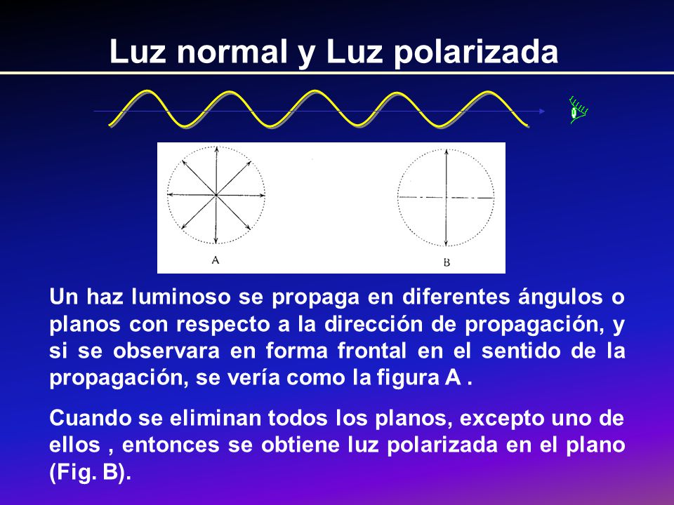 Luz normal y Luz polarizada