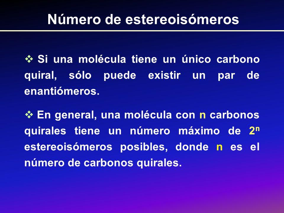 Número de estereoisómeros