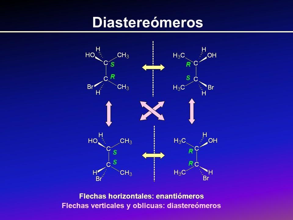 Diastereómeros Flechas horizontales: enantiómeros