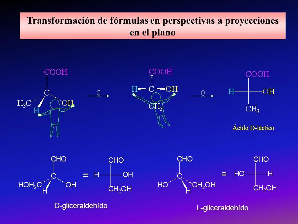 Transformación de fórmulas en perspectivas a proyecciones en el plano