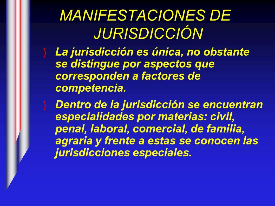 MANIFESTACIONES DE JURISDICCIÓN