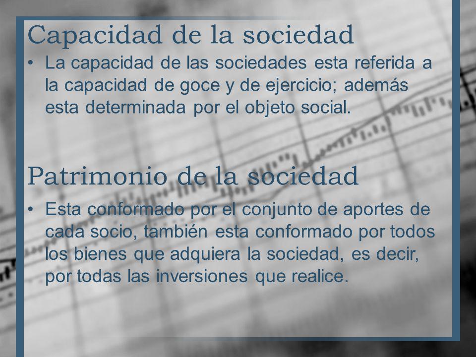 Capacidad de la sociedad