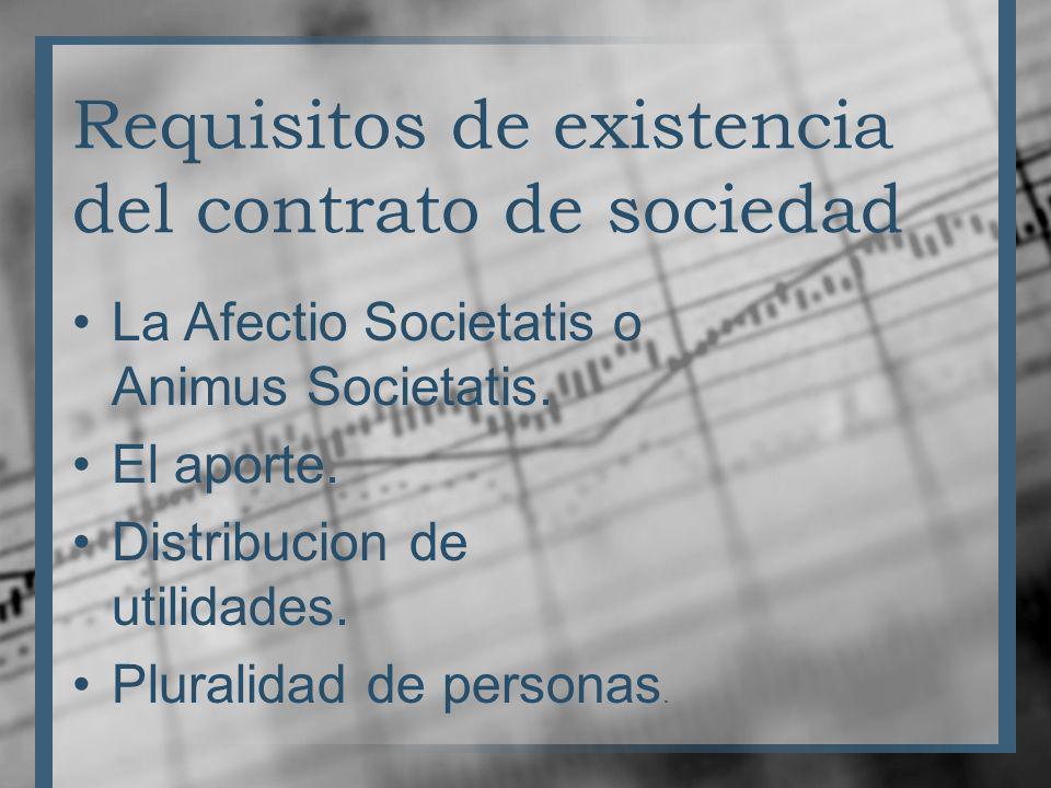 Requisitos de existencia del contrato de sociedad