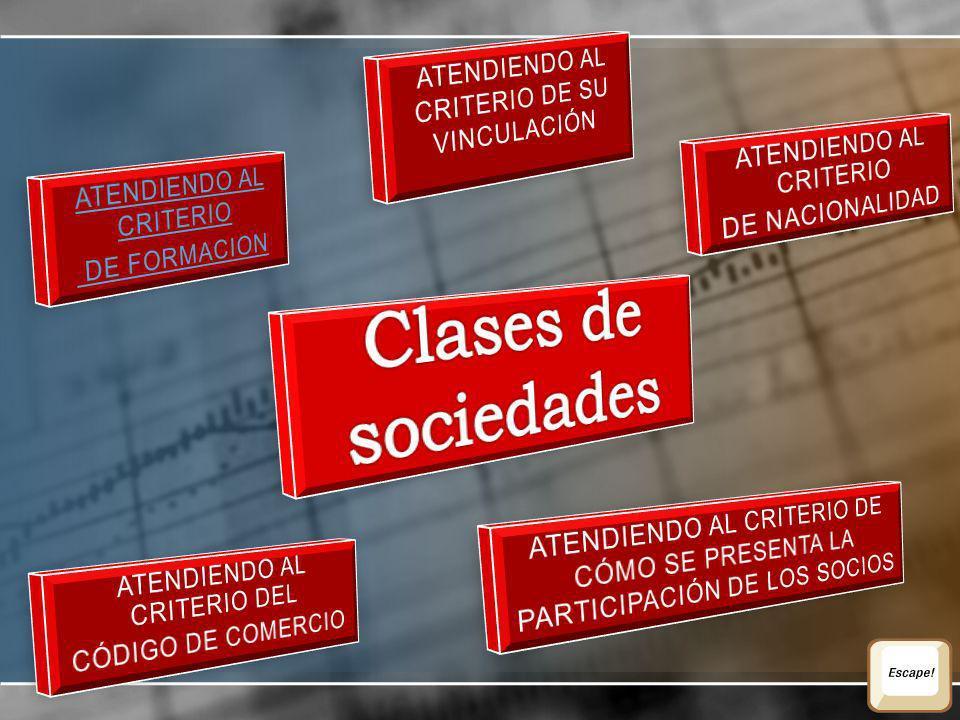 Clases de sociedades Atendiendo al criterio de su vinculación
