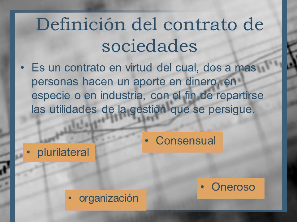 Definición del contrato de sociedades